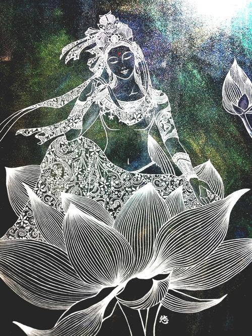 @京都 月永流∞神仏絵画 ~写仏会・神うつし体験教室~