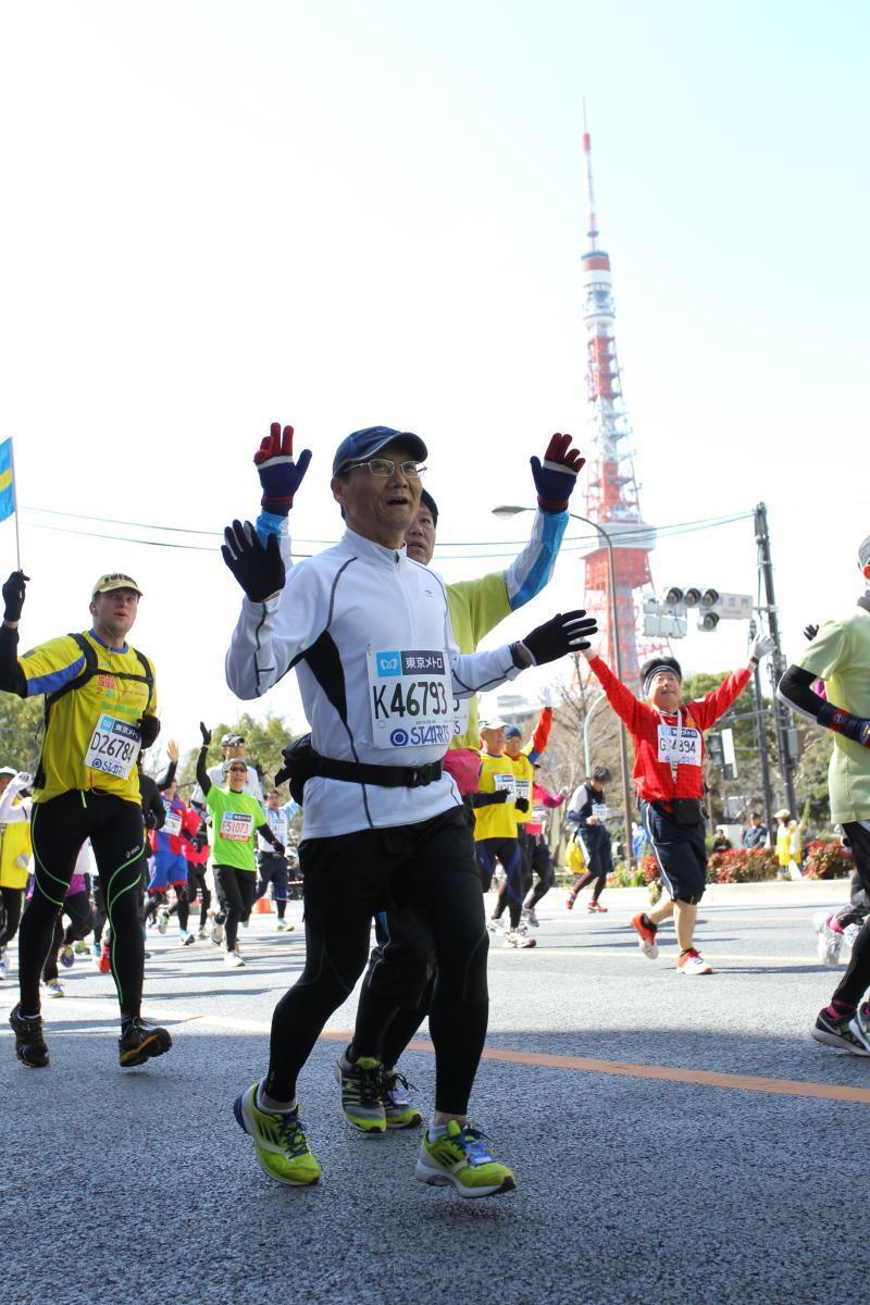 東京マラソン走っています