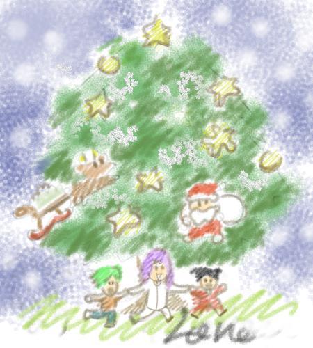 秘密の薪ネコ&ラグエル・ハン(INクリスマス)