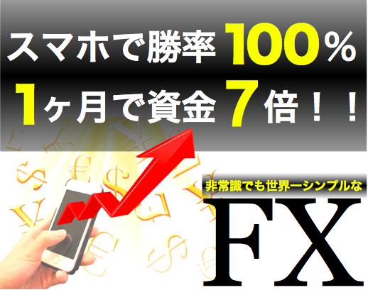 勝率100%、月利700%達成!FX章吾