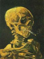 煙草を吸う骸骨