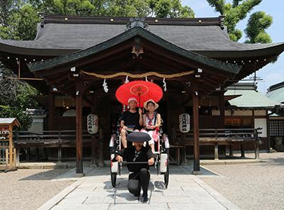 人力車「三輪の月」・奈良着物レンタル山桜
