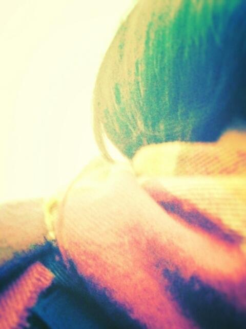 紫の髭リュック