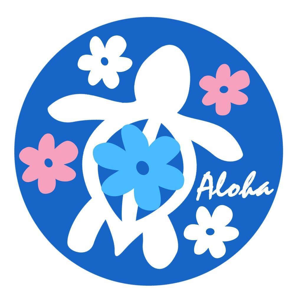 無料ダウンロード ハワイ 亀 イラスト 無料で使える かわいい テンプレート素材
