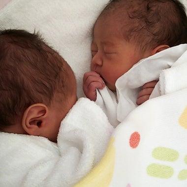 末っ子は双子女子(๑´ー`๑人๑´ー`๑)